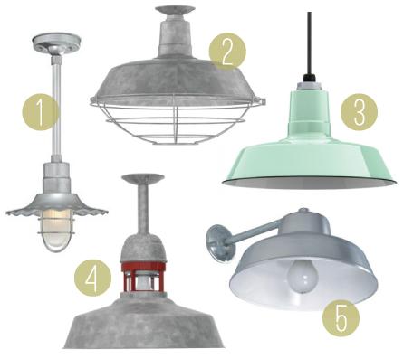 Affordable Barn Lighting / 7thhouseontheleft.com