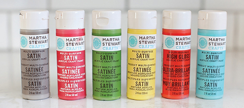 Martha Stewart Craft Paint // 7thhouseontheleft.com