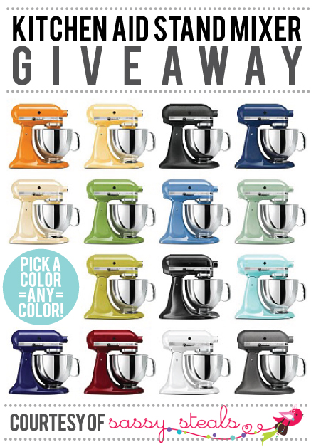 Kitchen Aid Mixer Giveaway // 7thhouseontheleft.com
