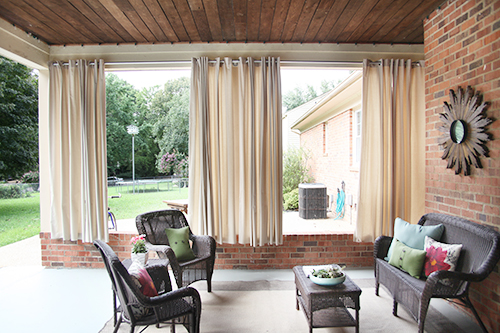 DIY Outdoor Curtains / 7thhouseontheleft.com