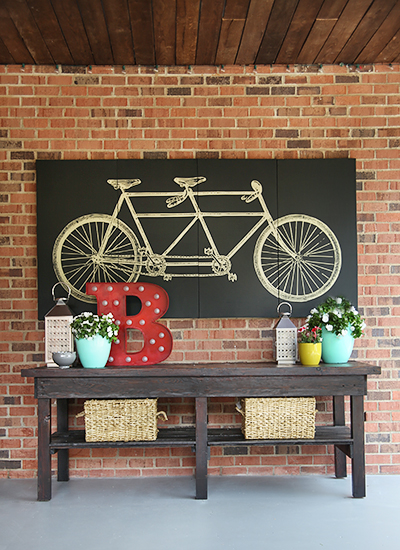 Covered Patio Console Table // 7thhouseontheleft.com