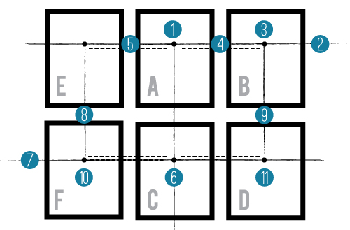 How to Hang Frames in a Grid // 7thHouseontheleft.com