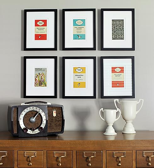 Card Catalog with Frames // 7thhouseontheleft.com