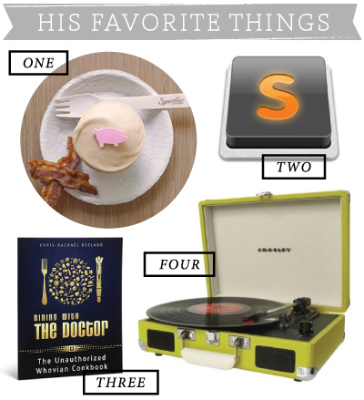 His Favorite Things / 7thhouseontheleft.com