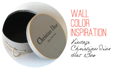 Wall Color Inspiration from Vintage Christian Dior Hat Box // 7thhouseontheleft.com