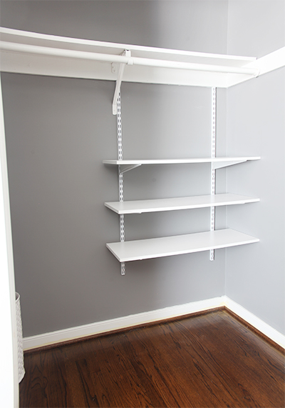 organize closet without shelves 1