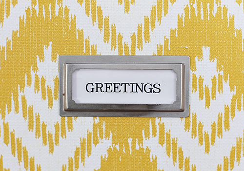 Organized Greeting Cards // 7thhouseontheleft.com