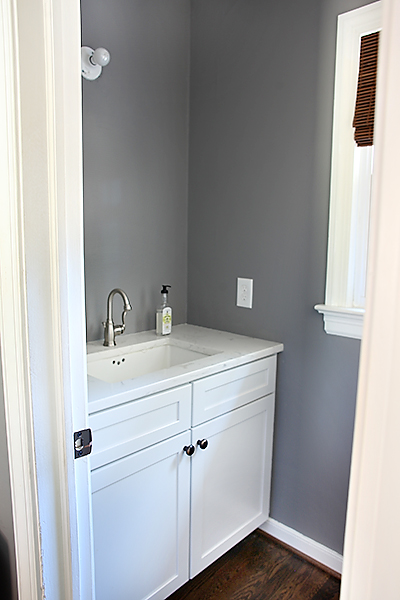 Half Bathroom Progress // 7thhouseontheleft.com