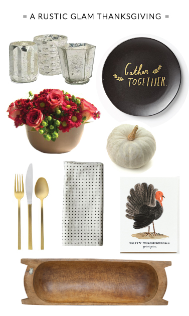A Rustic Glam Thanksgiving // 7thhouseontheleft.com