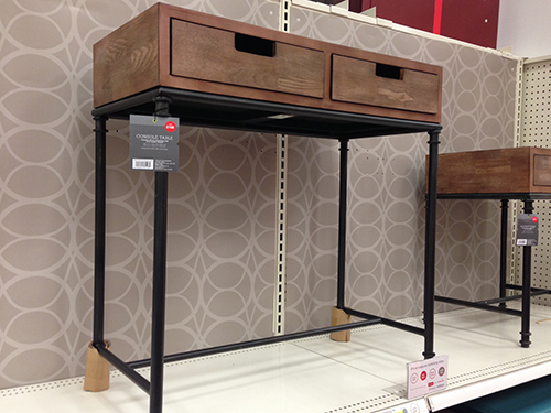 Target Threshold Console Table // 7thhouseontheleft.com
