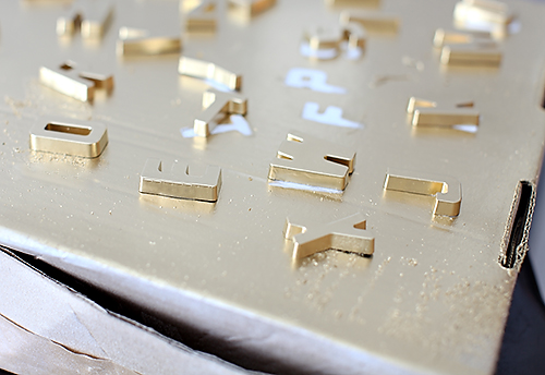 DIY Gold Magnet Letters // 7thhouseontheleft.com