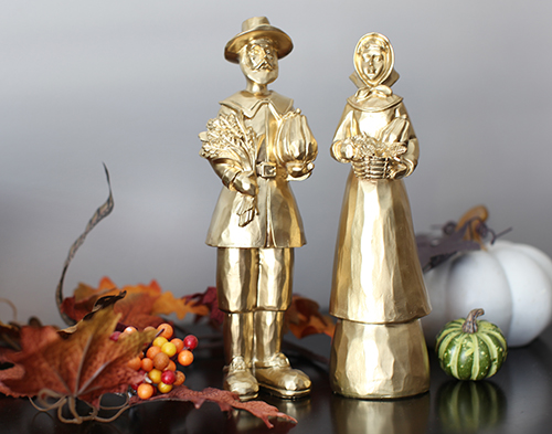Transform $2 Thanksgiving Decor with Spray Paint / 7thhouseontheleft.com