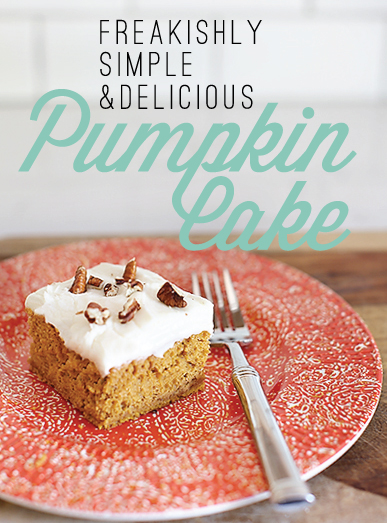 Freakishly Simple & Delicious Pumpkin Cake // 7thhouseontheleft.com