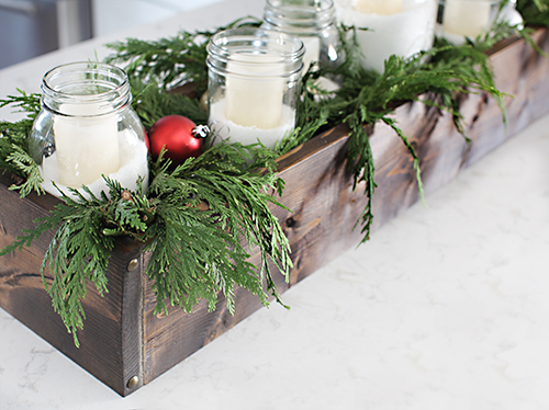 diy rustic table centerpiece 7thhouseontheleftcom - Wooden Box Christmas Decorations