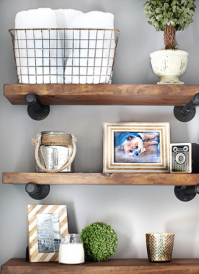 diy restoration hardware inspired shelving 7th house on the left