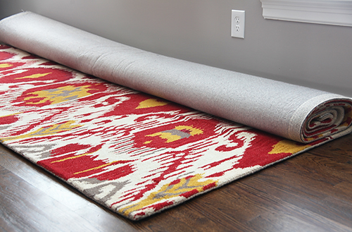 Cream, Red, Gray and Curry Ikat Rug / 7thhouseontheleft.com