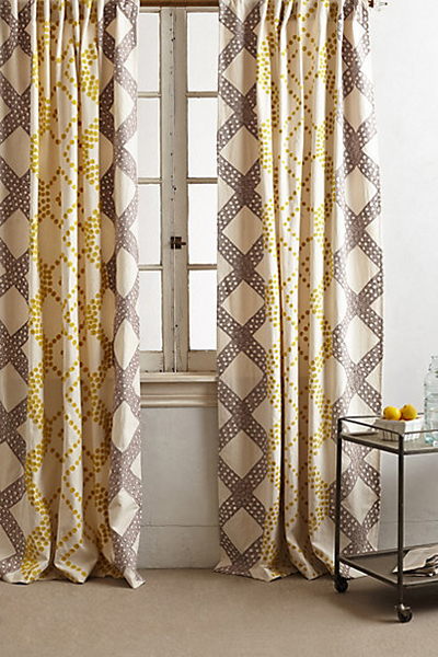 Anthroplogie Curtains // 7thhouseontheleft.com