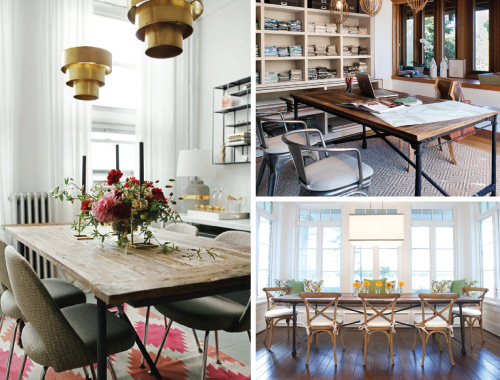 Restoration Hardware's Flatiron Dining Table // 7thhouseontheleft.com