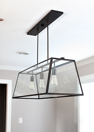 How to move your light fixture placement and install a new one // 7thhouseontheleft.com