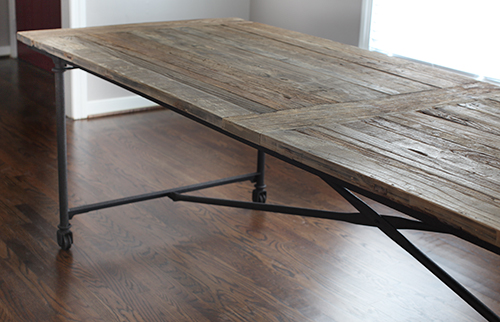 Restoration Hardware Flatiron Dining Table // 7thhouseontheleft.com