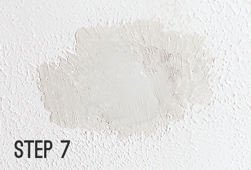 How to Patch a Hole in a Textured Ceiling // 7thhouseontheleft.com