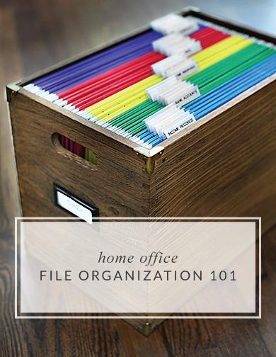 Home File Organization 101 // 7thhouseontheleft.com