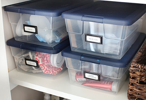 Shoe box organization // 7thhouseontheleft.com