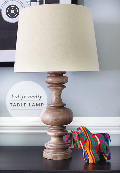 Kid-Friendly Table Lamp // 7thhouseontheleft.com