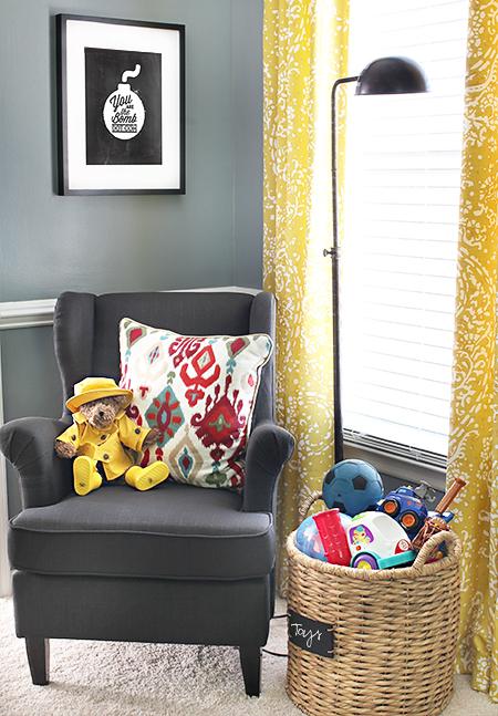 Playroom Reading Corner // 7thhouseontheleft.com