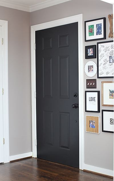 Door Color: Black Suede by Behr / 7thhouseontheleft.com