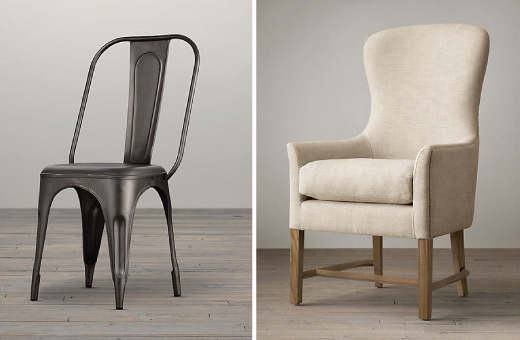 Restoration Hardware Dining Chair Pairing / 7thhouseontheleft.com