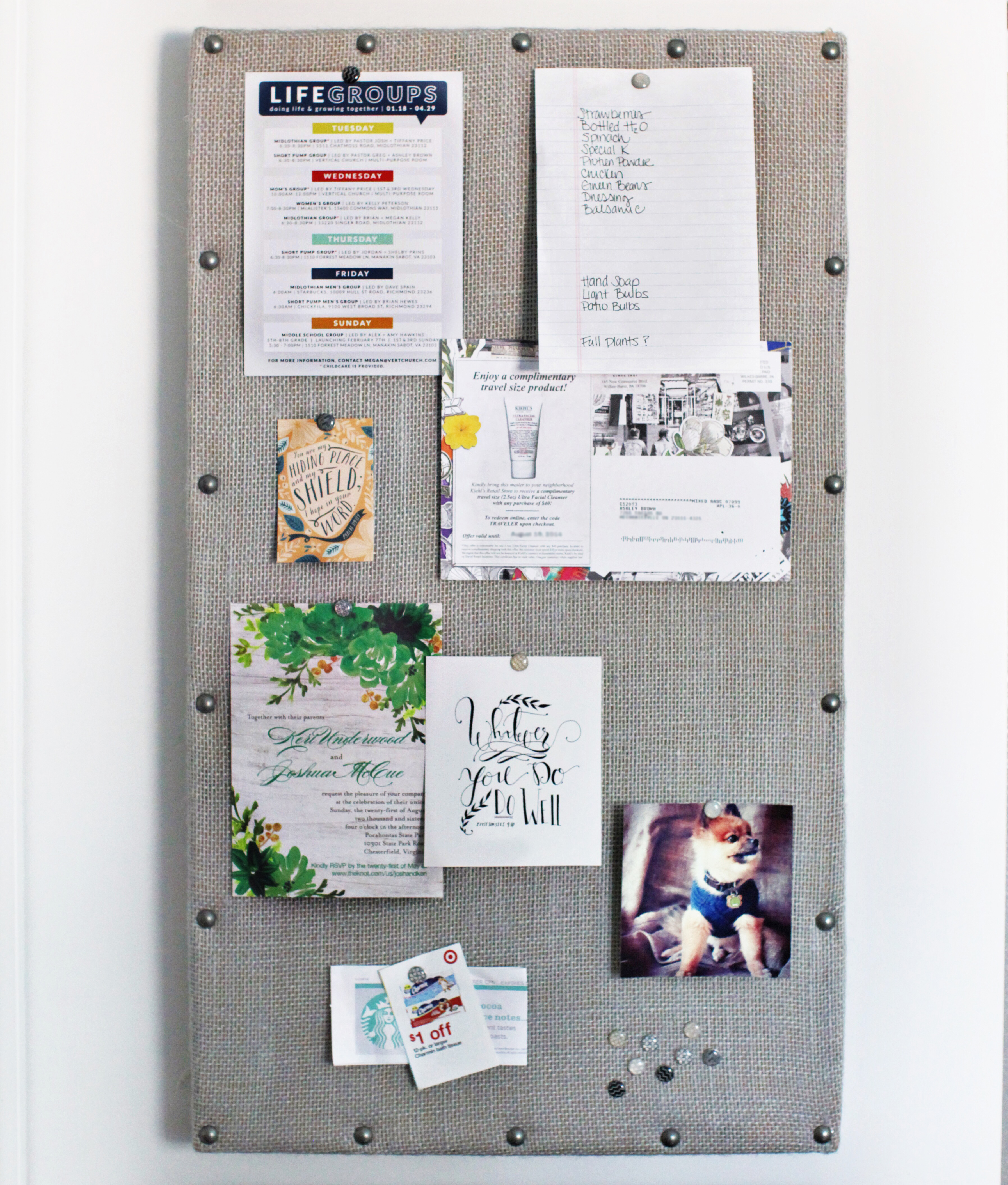 DIY Fridge Memo Board Station / 7thhouseontheleft.com